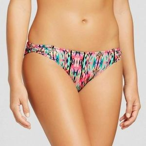 Shade and Shore XS Coral Gold Foil Bikini Bottom